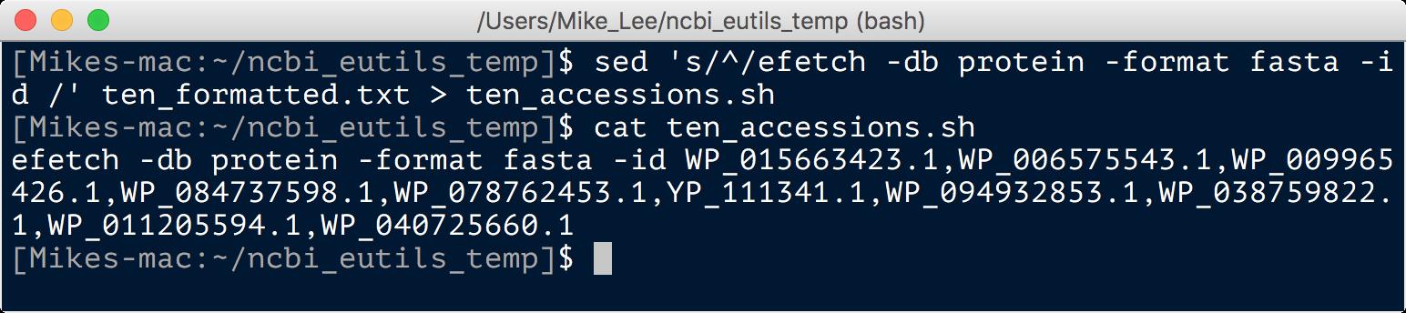 Downloading from NCBI