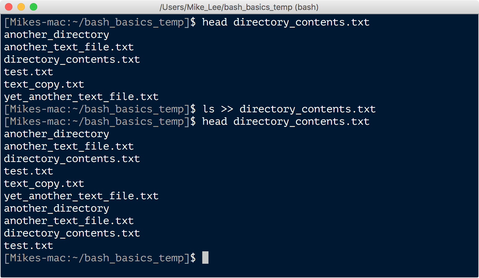 Bash basics another redirector that you may come across but will likely use less often is the less than sign this is placed before what you would like the input to biocorpaavc Images